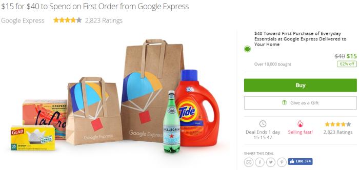 groupon google express