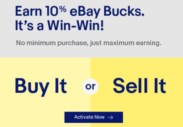 ebay bucks 10 buy or sell