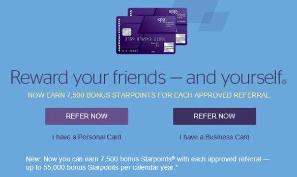 amex spg referral bonus