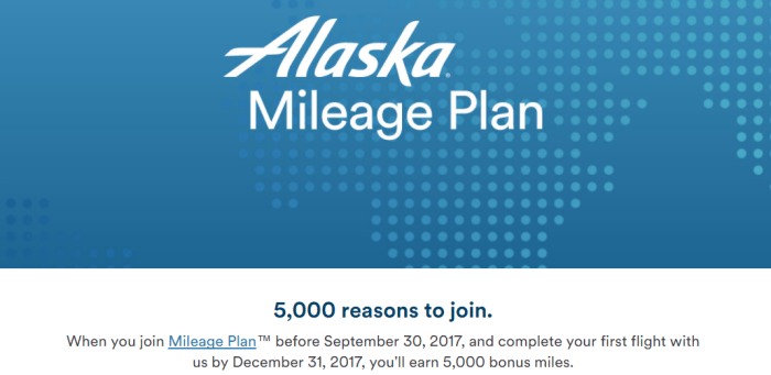Alaska Airlines mileage plus signup promo