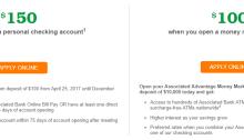 Associated Bank 150 bonus