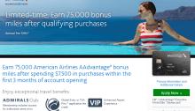 Citi AAdvantage Executive Card 75K Bonus