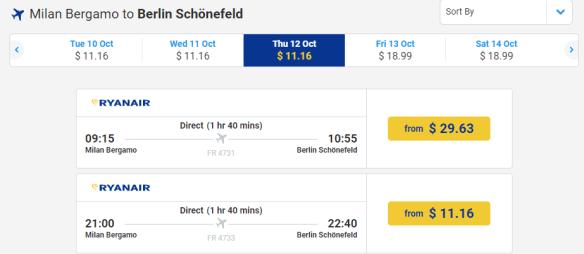 cheap flights in europe