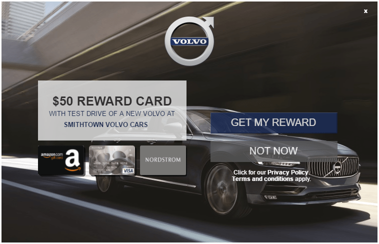 Test Drive a Volvo, Get a $50 Visa Gift Card