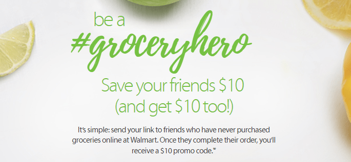 Walmart Grocery, $10 Referral Bonus For Both Parties