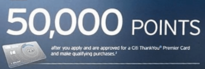 Citi ThankYou Premier 50K offer