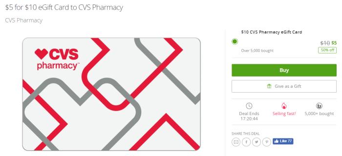 10 eGift Card to CVS Pharmacy   CVS Pharmacy   Groupon.png