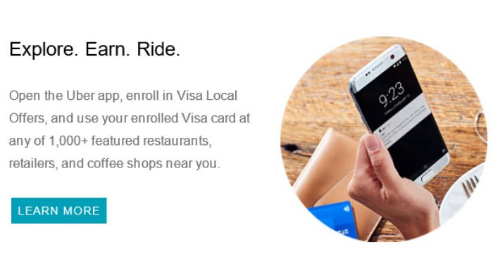 Uber Visa Local Offers