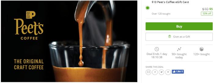 Peet s Coffee 50 Off Groupon
