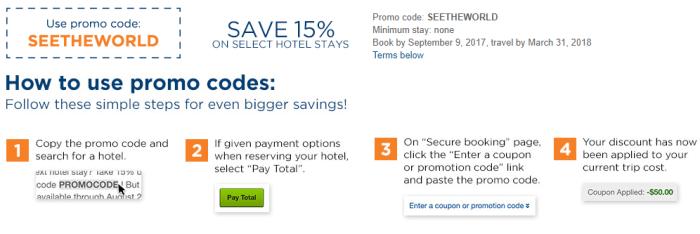 travelocity 15% discount