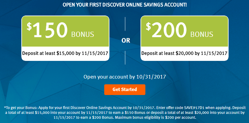 Discover, Get Up To $200 With Your First Savings Account