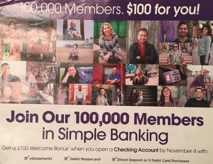 Orange County Credit Union 100 bonus