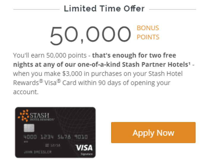 Stash Hotel Rewards Visa Card