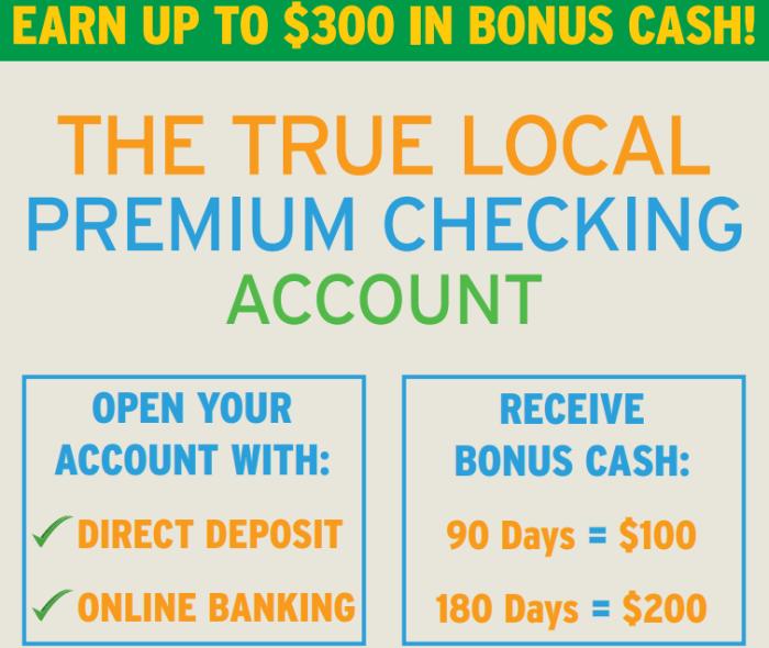 PCSB, $300 Checking Account Bonus