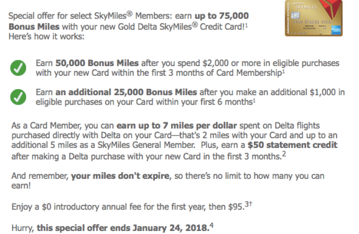 Amex Delta Gold 75K Offer