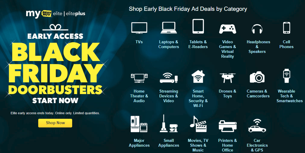 Best Buy Black Friday Early Access Event For Elite & Elite Plus Members