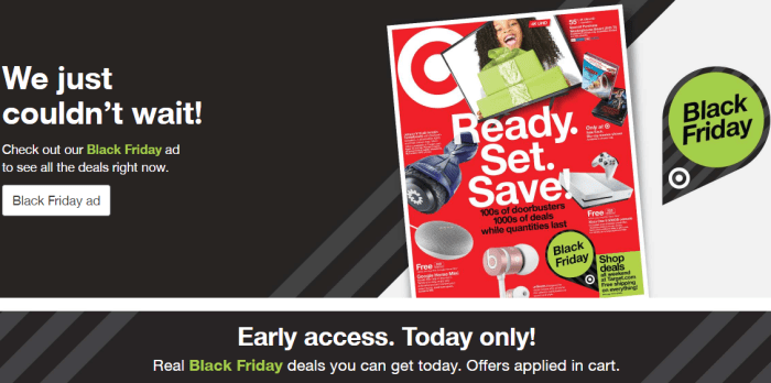 Early Access Black Friday Deals At Target