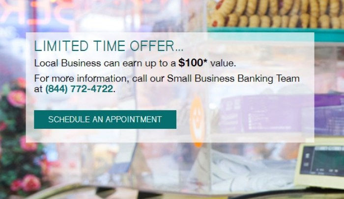 Ridgewood Savings Bank, $100 Business Savings Bonus