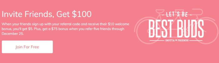 ibotta 100 referral bonus
