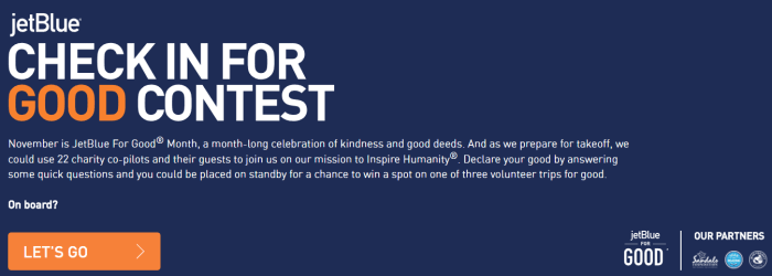 JetBlue For Good Month