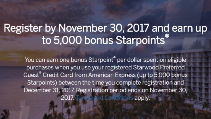 Amex SPG Spending Bonus