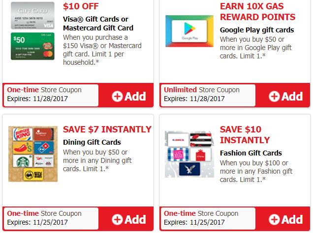 Safeway/Vons; Fashion, Dining & Visa/Mastercard Gift Card Deals ...