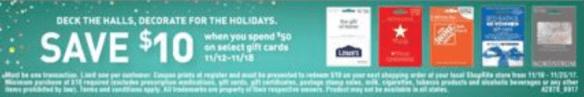 shoprite gift card sale
