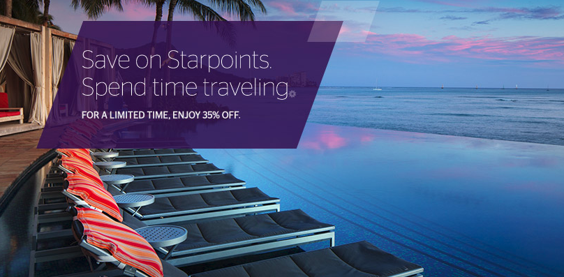 Purchase SPG Starpoints With a 35% Discount