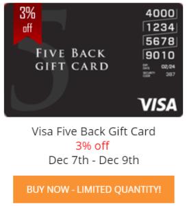 Five Back Visa Card For $485