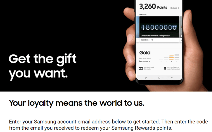 free Samsung Rewards Points