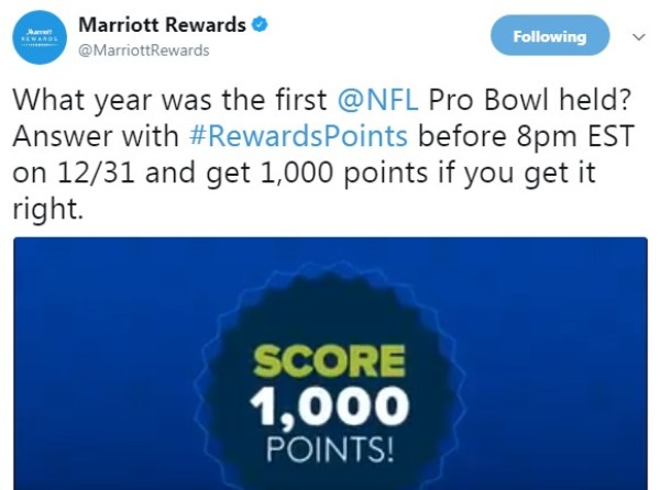 1,000 Free Marriott Rewards