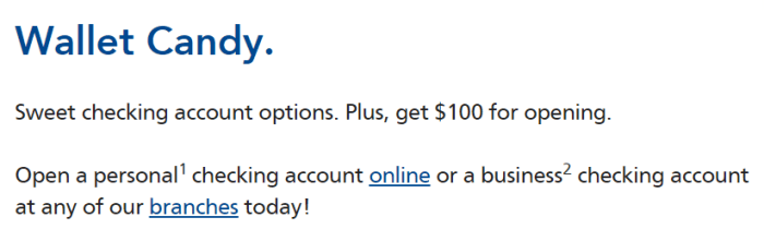 Liberty Bank, $100 Bonus
