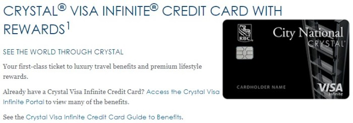 Crystal Visa Infinite 50k offer