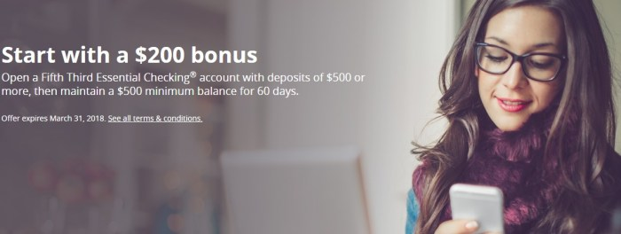 Fifth Third Bank, $200 Checking Bonus