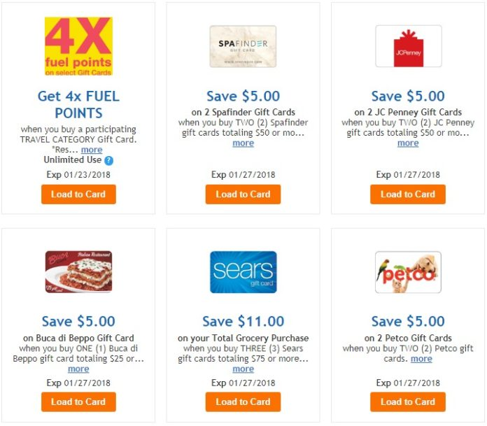 Kroger Gift Card Deals: Save At Sears, JCPenney And More