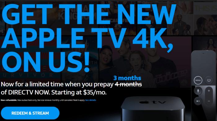free apple tv