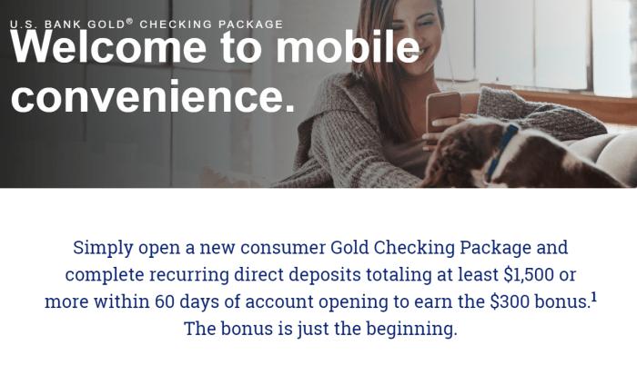 US Bank $300 Checking Account Bonus