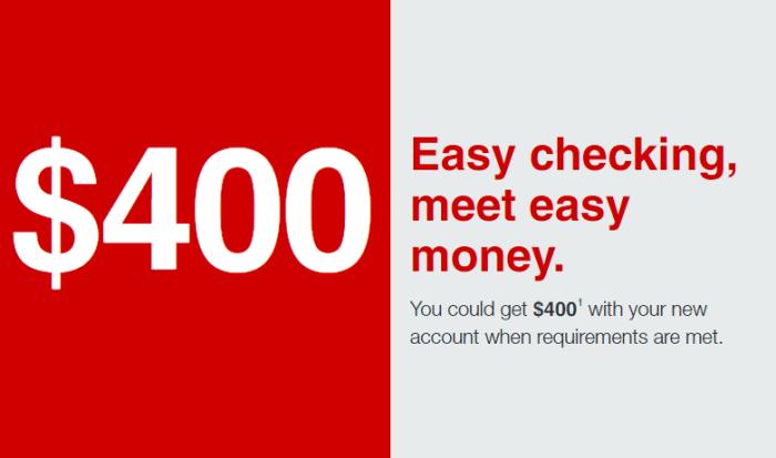 KeyBank $400 Checking Bonus