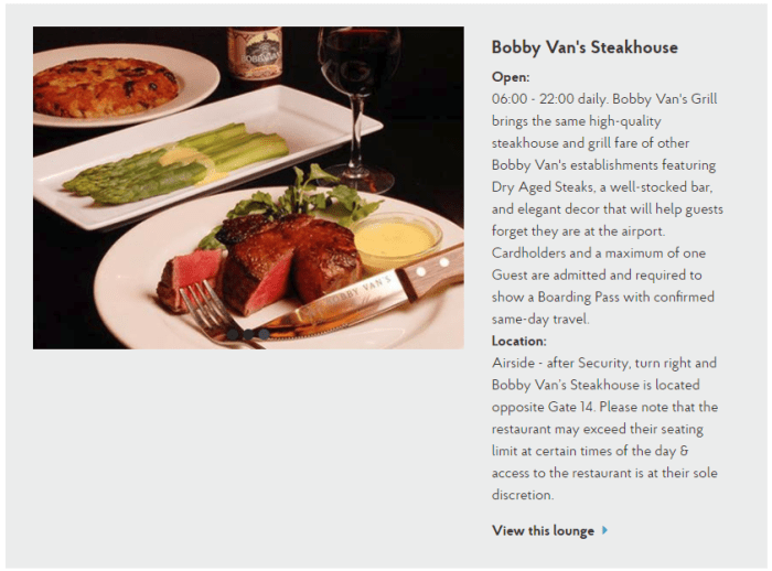 Bobby Van's Steakhouse at JFK Airport Joins Priority Pass