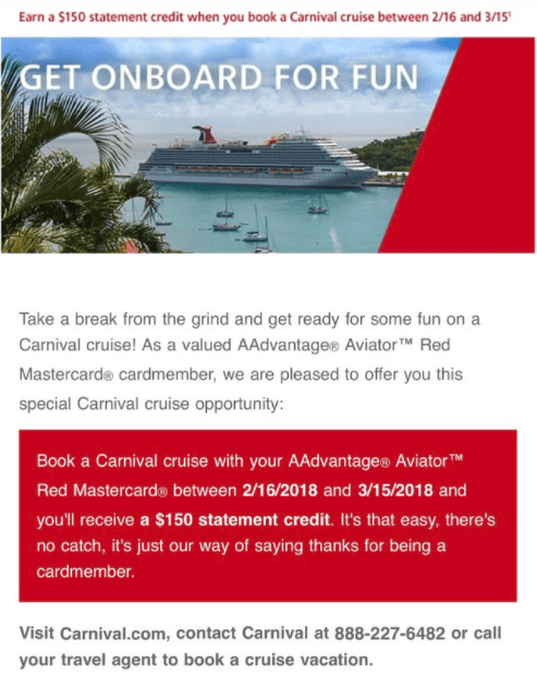 Get $150 Back on Carnival Cruises with Your Barclay Card (Targeted)