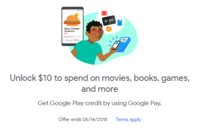 Google Pay promotion