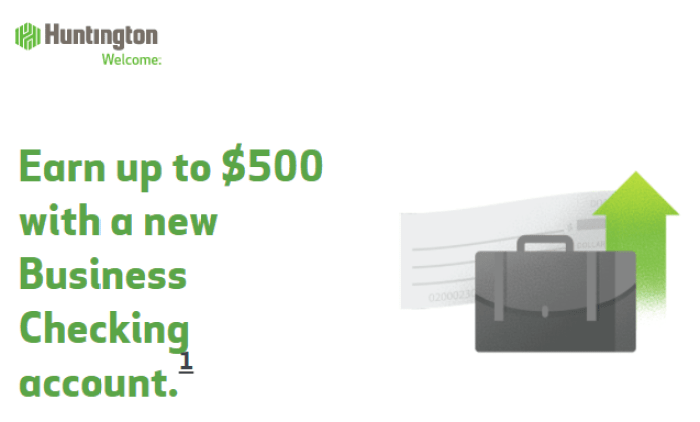 huntington bank 500 business bonus