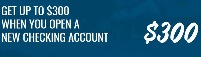 North Shore Bank $300 Checking Bonus