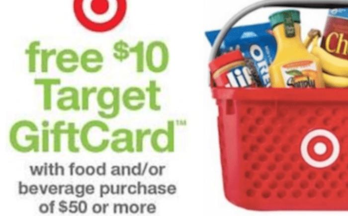 target promo 10 gift card