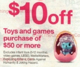 target toys discount