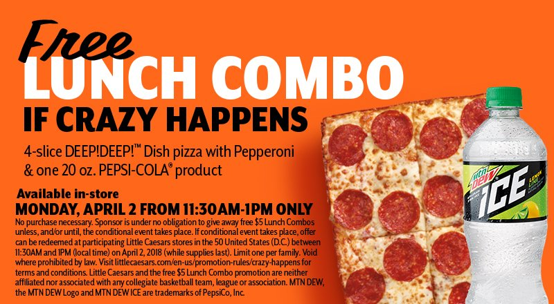 Free Little Caesars Pizza on April 2, Because Crazy Did Happen