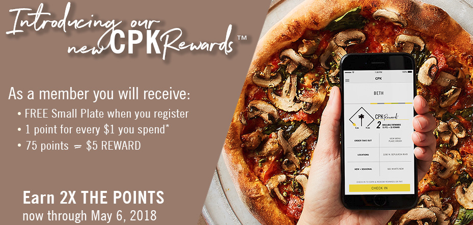 ... But Available For Orders Places Online Only. So It Should Not Work When  You Dine At One Of Their Locations. Sign Up For Their New Rewards Program  To Get ...