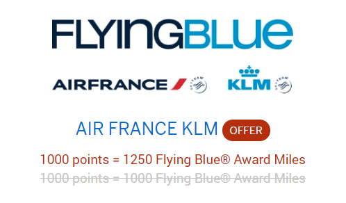 membership rewards air france klm bonus