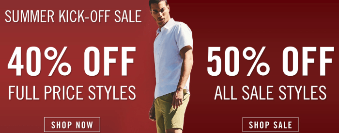 Perry Ellis Sale
