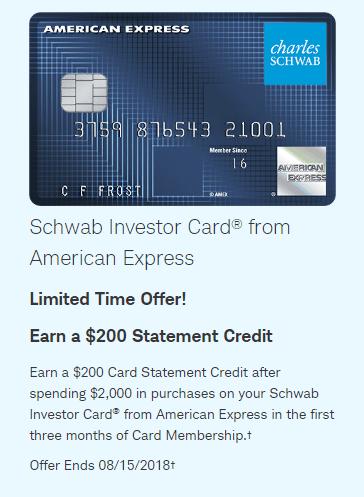 Amex Schwab Investor Card